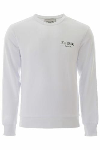 Felpa Iceberg Sweatshirt Hoodie Uomo Bianco E0106302-1101
