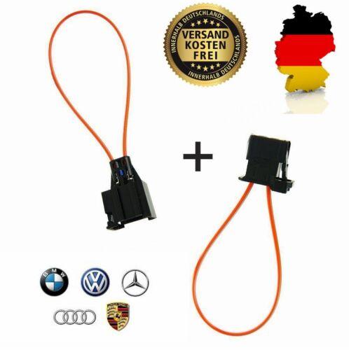 2x Lichtleiter Connector Brückenstecker MOST BUS BMW VW Audi Porsche LWL Brücke