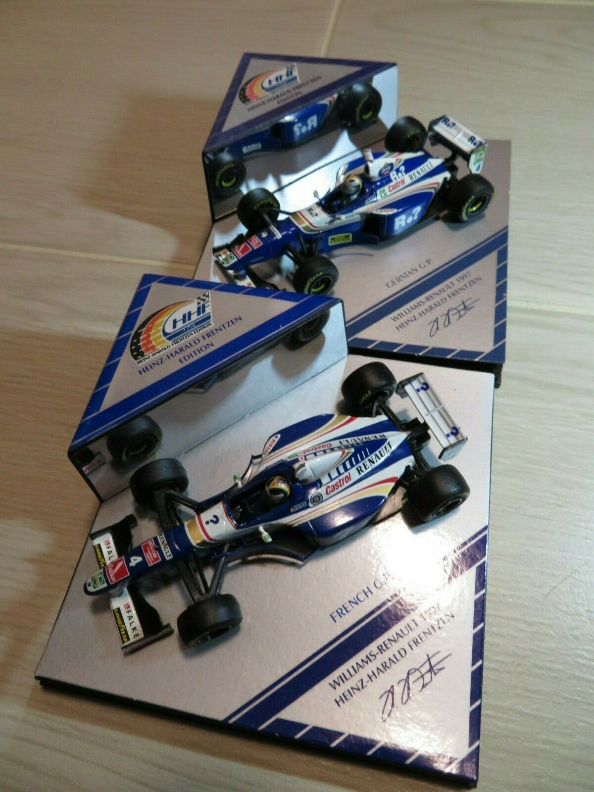 1 43 Williams Renault alemán G.P. & French G.P. Diecast (2PCS)
