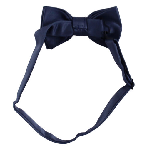 New KID/'S BOY/'S 100/% Polyester Pre-tied Bow tie only navy blue formal wedding
