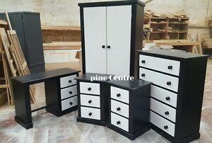 Image Is Loading Handmade Black White Gentle Man 5 Piece Bedroom