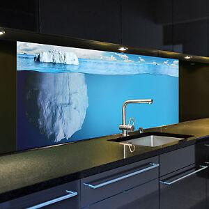 digitaldruck auf glas 1043 1 gb motiv eisberg f r ihre k che oder als bild ebay. Black Bedroom Furniture Sets. Home Design Ideas