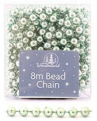 Gastvrij 8m Light Green Bead Chain - Luxury Xmas Tree Decoration Beads,garlands For Party