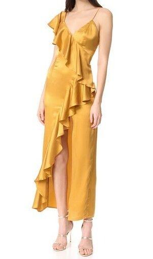 New friend colony  One Shoulder Ruffled Dress Gold Größe XS