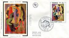 FRANCE FDC - 2137 1 TABLEAU ALBERT GLEIZES - 28 Février 1981 - LUXE sur soie