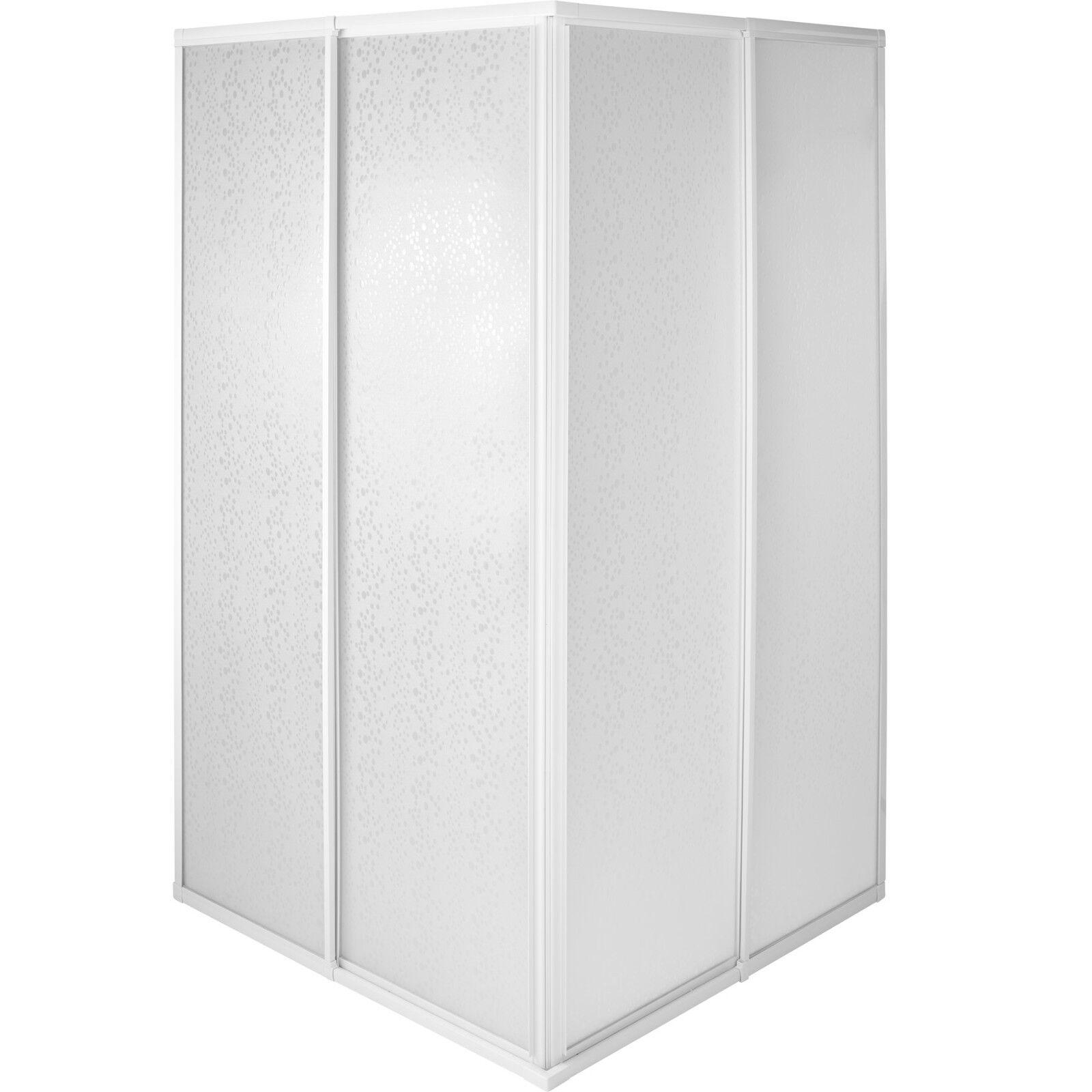 Cabina doccia parete divisorio doccia entrata angolare quadrato 90 x 90 x 185 cm