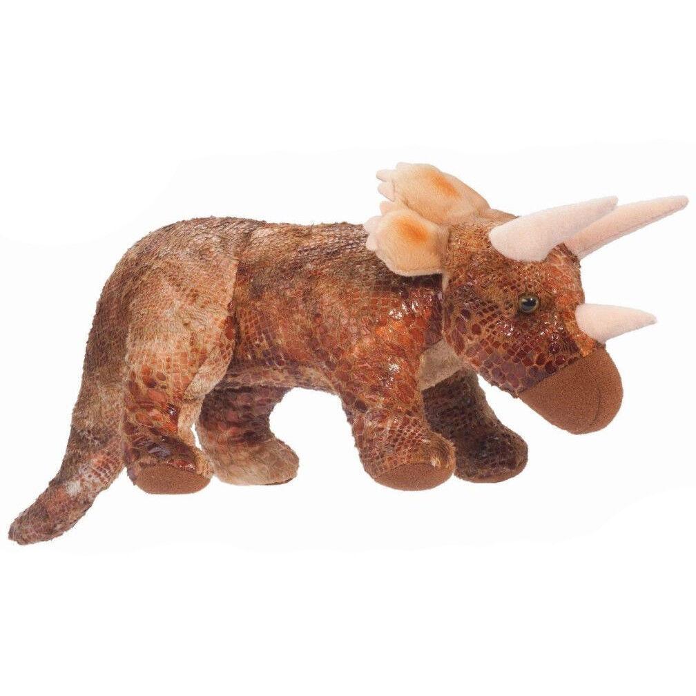 Douglas Kuscheln Spielsachen 27   Groß Triceratops Dinosaur mit Geräuschen -
