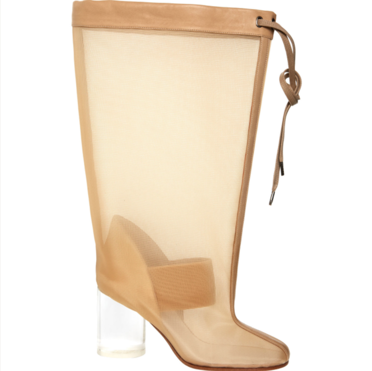 MAISON Leather-trimmed MARTIN MARGIELA Leather-trimmed MAISON Mesh & Perspex Stiefel UK 4 EU 37 049964