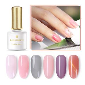 BORN-PRETTY-6ml-Pink-White-Gel-Polish-Semi-transparent-Soak-Off-Nail-Gel-Varnish