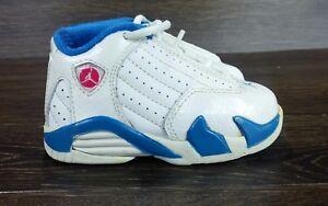 best service 13675 16156 Details about Nike AIR JORDAN XIV 14 (TD) WHITE SIREN RED NEPTUNE BLUE  312093-107 6C TODDLER