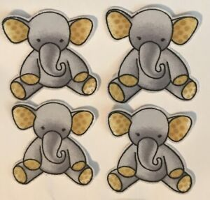 Adorable-Elephants-Iron-On-Fabric-Appliques