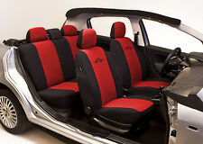 SET OF RED HIGH QUALITY SEAT COVERS PROTECTORS FOR PEUGEOT 206