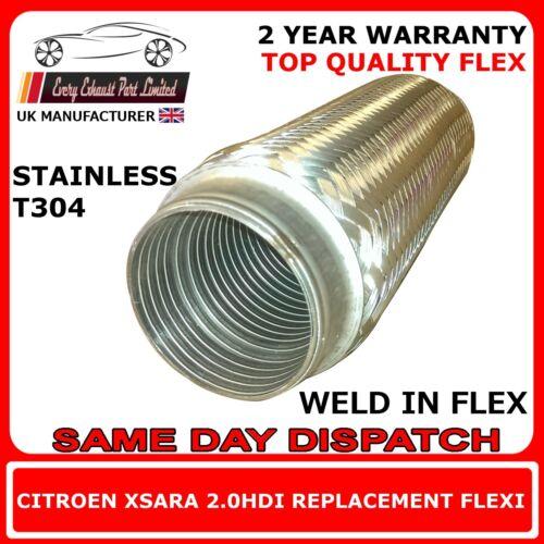 Citroen Xsara 2.0HDI 2001-05 Weld In Replacement Repair Flex Flexi For Cat Pipe