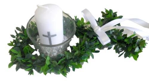 Kommunion Kerzen Tischdeko Taufe Konfirmation Motiv Fische Votivglas