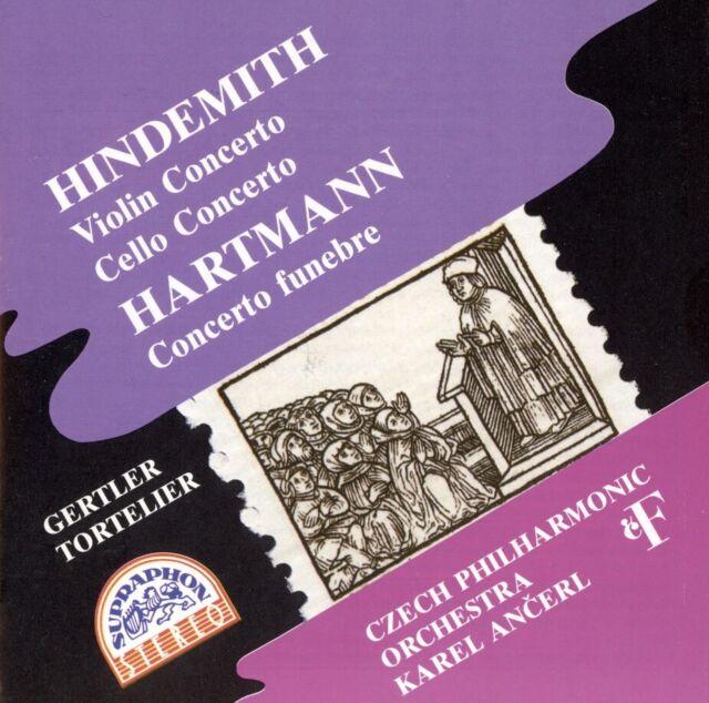Hindemith & Hartmann Violin Cello Concerto Funebre 1995 SUPRAPHON 11 1955-2  011 for sale online   eBay