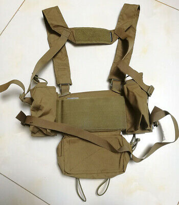 Details about  /Airsoft High-end Version MK4 Chest Rig Vest Modular Chest Coyote Brown