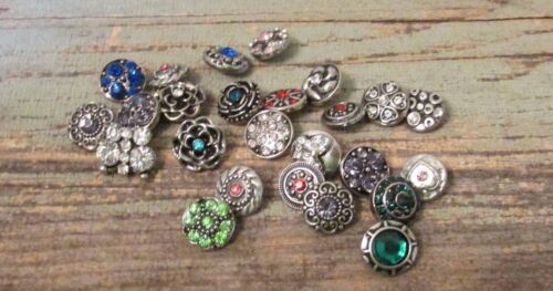 5pc Mix Snap Lot 12mm Button Snaps Charms Fits Ginger Petite Poppers /& Vine