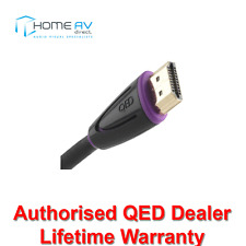 QED Profile EFLEX HDMI Lead 4k 3D High Speed with Ethernet 1m Black - QE2741
