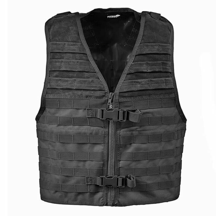 TEXAR Gilet Tactical Military stile MOLLE COMBAT Army Assault Nero