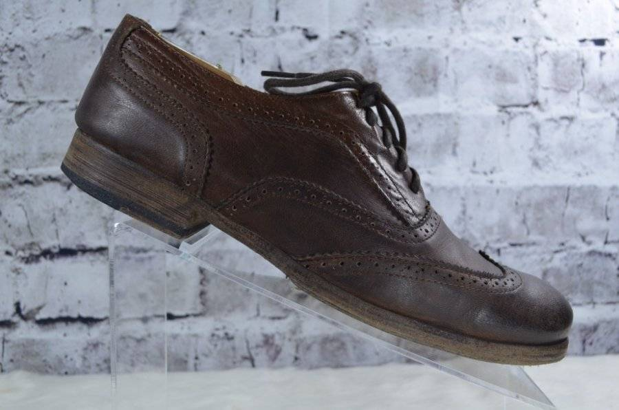 Bed Stu Cobbler Series brown leather brogue wingtip lace up oxfords 9