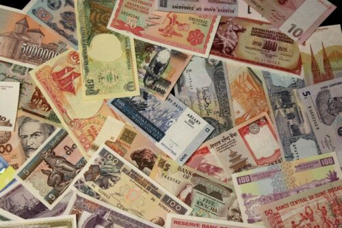 HUGE WORLD FOREIGN CURRENCY BANKNOTE UNSEARCHED BLOWOUT SOLD IN LOTS OF 30