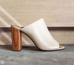 7807a57cf80b08  375 New TORY BURCH RAYA MULE sandals shoes dulce De Leche Cream Lt ...