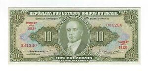 10-Cruzeiros-Bresil-1956-c078-p-159c-Brazil-billet