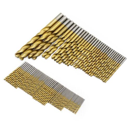 50//99PCS Titanium Coated High Speed Steel Twist Serratula Drill Bit Set Metric
