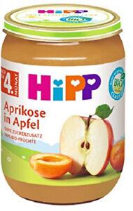 HiPP Bio Babynahrung Brei Früchte Aprikose Apfel Ab 4 Monat 6er Pack 6 x 190 g