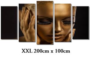 DEKOART BILDER WANDBILD XXL KOSMETIKSTUDIO MAKE UP LEINWANDBILD 200cm x 100cm