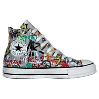 CONVERSE ALL STAR CHUCKS EU 41,5 UK 8 GRAFITTI GRAU LIMITED EDITION VINTAGE PUNK