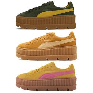 Puma Fenty X Rihanna Cloué Creeper Chaussures Femmes Jaune Marron Vert Baskets
