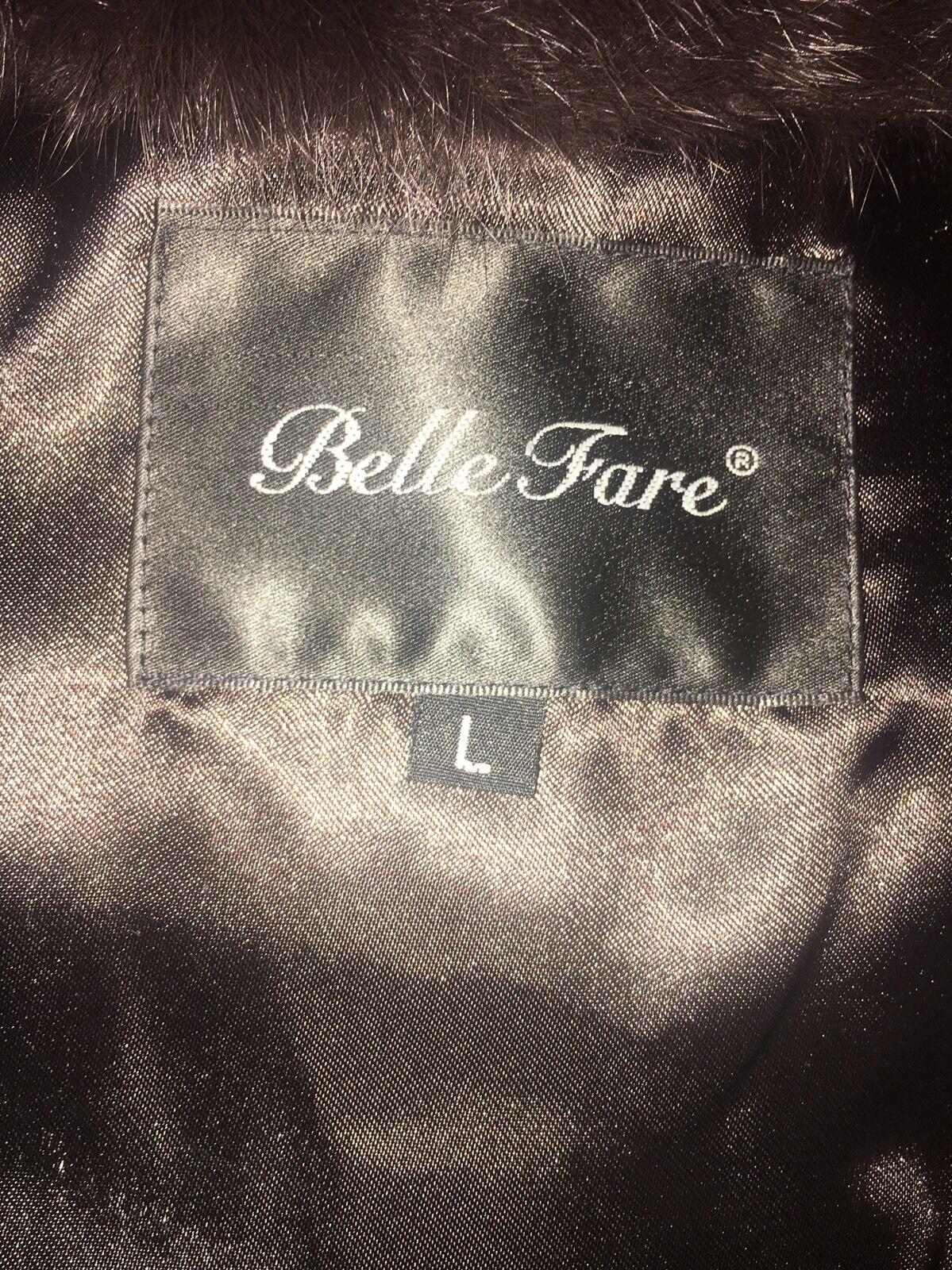 Bella Fare Ladies Ladies Ladies Brown Fur  with knit design Vest Size Large edeea9