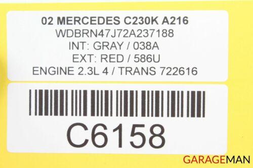 01-04 MERCEDES W203 C32 AMG FRONT LEFT SIDE MIRROR DOOR REAR VIEW RED OEM