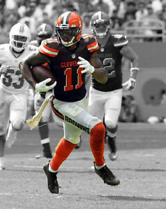 best loved 53c2d f534c Details about Cleveland Browns TERRELLE PRYOR Glossy 8x10 Photo NFL Print  Spotlight Poster