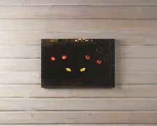 X47154 Lighted  Spooky Eyes Canvas Painting Picture Art  Pumpkin Halloween