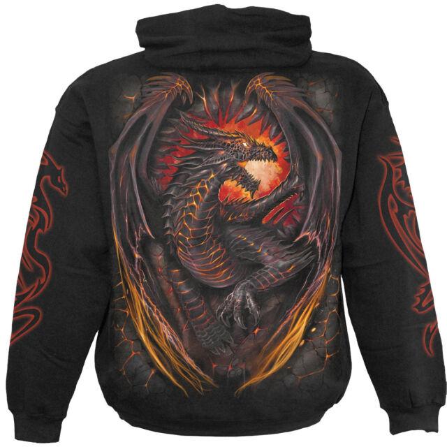 Spiral Direct Dragon Fornace con Cappuccio,Biker / Dragon/Skull / Metallo / Rock