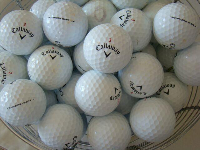 50 CALLAWAY CHROME SOFT GOLF BALLS IN A/B GRADE CONDITION