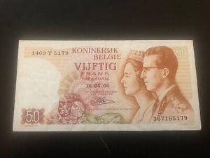 50-Frank-50-Francs-16-05-1966-Belgique-Belgie-Belgium
