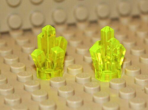 LEGO ® 2x GELBE KRISTALLEROCK CRYSTAL TRANSPARENT Baukästen & Konstruktion LEGO Bausteine & Bauzubehör