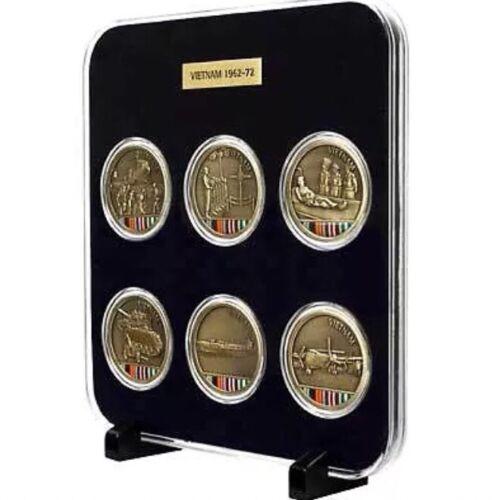 Vietnam Medallions Set Of Six in Case Presentation