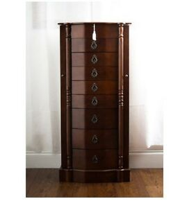 Image Is Loading Armoire Jewelry Box Storage  Cabinet Organizer Drawers Necklace