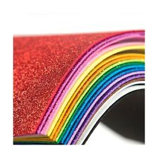 6 by 9-Inch Darice 106-1009 12-Pack Foamies Sticky-Back Glitter Sheet Assorted Colors