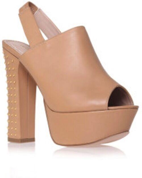 KG  di Kurt Geiger Nicole Beige Leather Open Toe Platform Slingback Sandal 7 38  Felice shopping