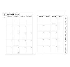 Fits Louis Vuitton Gm Large Agenda 2022 Refill Insert Calendar 50 Filler Pages