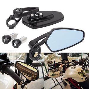 2Pcs-7-8-034-Moto-Lateral-Espejos-Retrovisor-Puno-manillar-Maneta-End-Bar-22MM-Negro