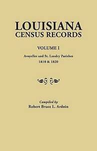 Louisiana-Census-Records-Paperback-by-Ardoin-Robert-Bruce-L-Brand-New-Fr