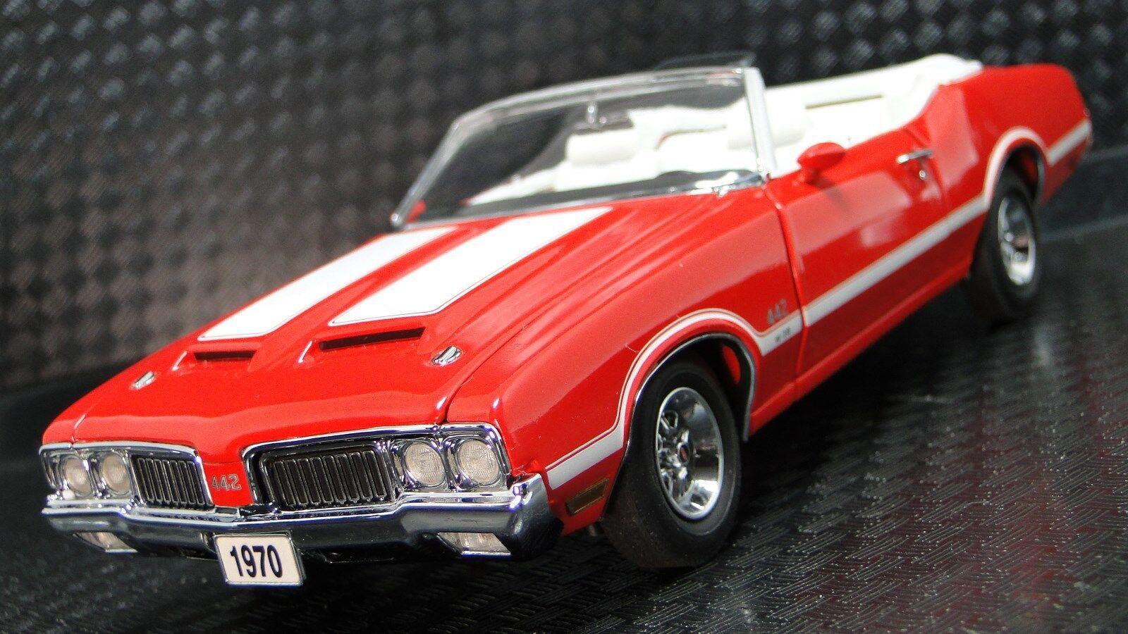442 Oldsbilene 1970 -talet OLDS Promo Muscle bil 1 24 Karusell röd Metal Body modelllllerler 18
