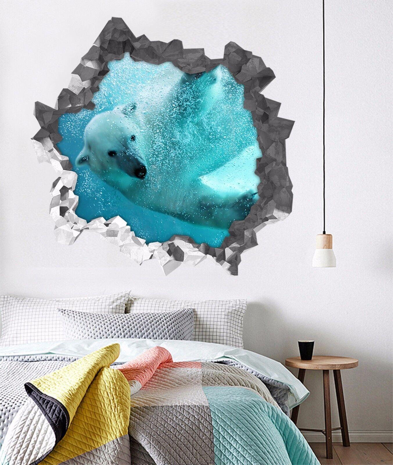 3D Meer Bär 743 Mauer Murals Mauer Aufklebe Decal Durchbruch AJ WALLPAPER DE