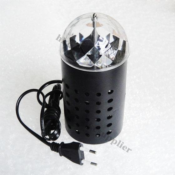 BLACK RGB Crystal Magic Ball Led Full Color Rotating Lamp For Party Disco DJ